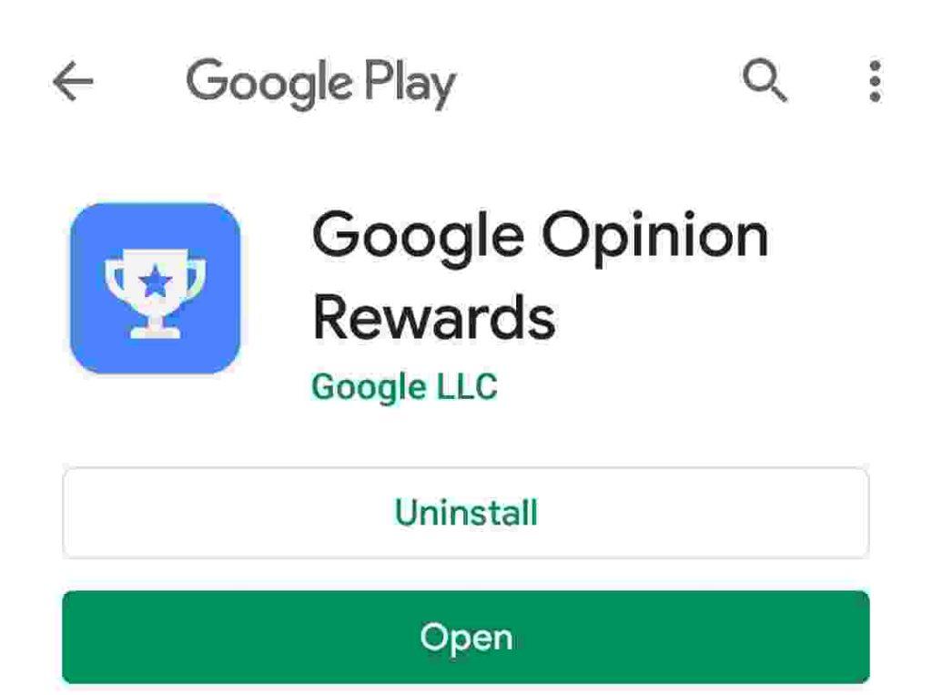 गूगल ओपिनियन रीवार्ड्स एप्प